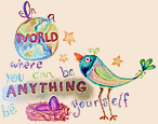 "Polar Pediatrics says, ""In a world where you can be anything be yourself."""